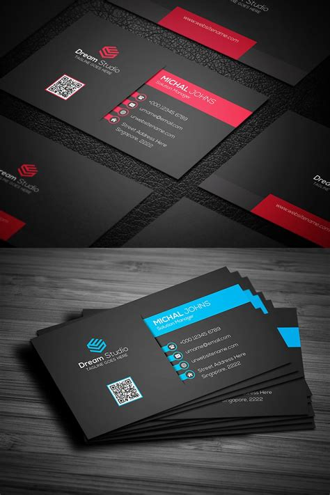 modern professional business card corporate identity