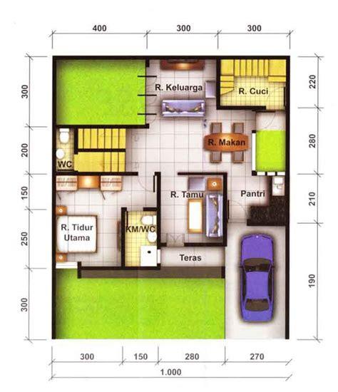 contoh denah rumah  tata ruang interior blog interior