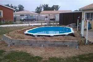 piscine semi enterree acier rectangulaire piscine hors sol With marvelous terrasse piscine semi enterree 8 piscine bois ronde