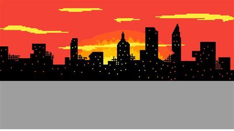 pixilart burning city skyline  adamp