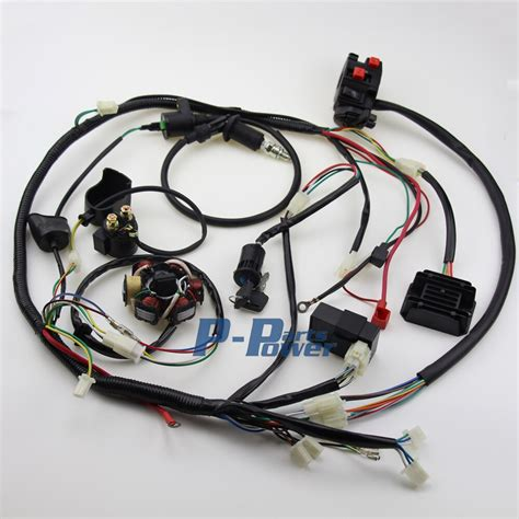 aliexpress com buy wire loom harness solenoid 6 coil magneto stator coil regulator cdi wiring