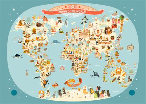 carte du monde enfant affiche carte du monde pour enfant en anglais de julie mercier