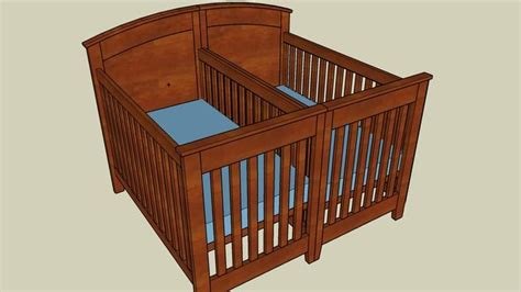 baby crib plans sketchup woodworking projects plans