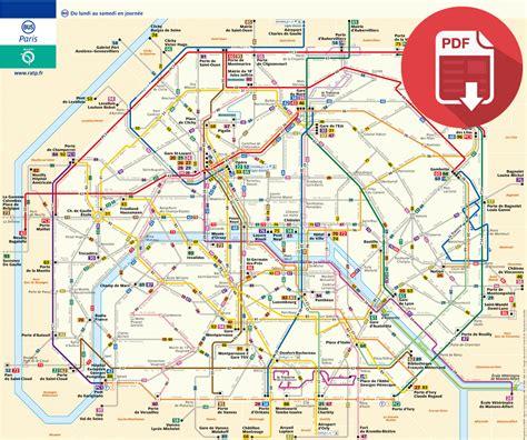 plan de metro paris