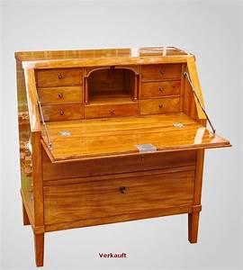 Möbel Sekretär Modern : sekret r mit schr gklappe aus dem biedermeier r ster ~ Markanthonyermac.com Haus und Dekorationen