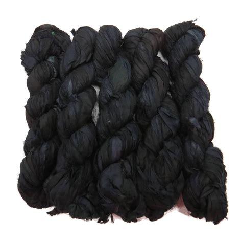 premium sari silk ribbon yarn    skeins