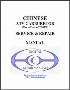Chinese Atv 50cc To 110cc Carburetor Repair Manual