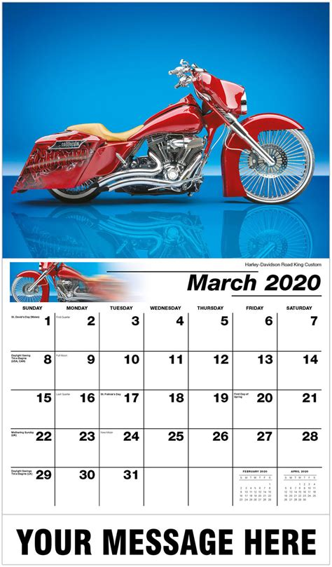 custom motorcycles wall calendar business advertising calendar