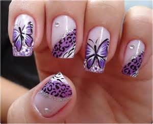 Stylish and elegant butterfly nail art