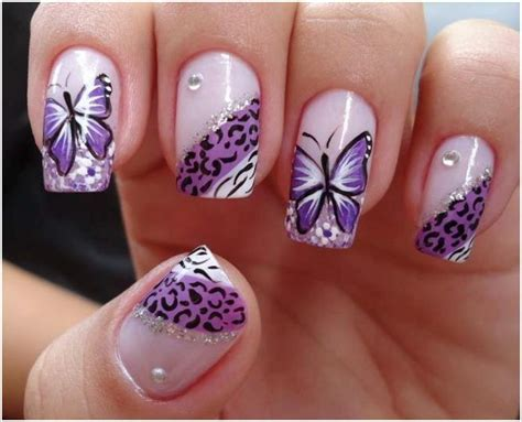 butterfly nail designs stylish and butterfly nail