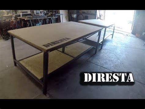 diresta steel shop tables youtube
