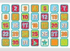 printable calendar numbers 1240 Printable Pages