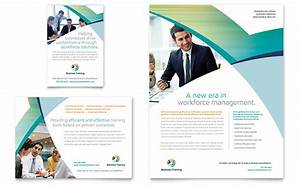 business training flyer ad template design With education brochure templates free