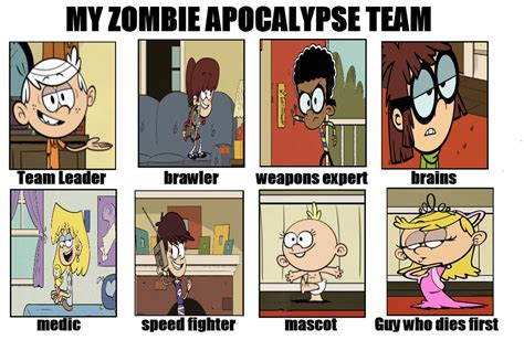 Loud House Zombie Apocalypse Team Meme By Deecat98 On