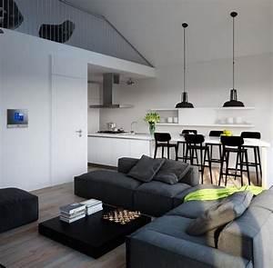 salon salle a manger 2 en 1 deco pour les espaces ouverts With salle À manger contemporaine avec idee deco salon salle a manger
