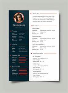 free professional resume cv template psd pinteres