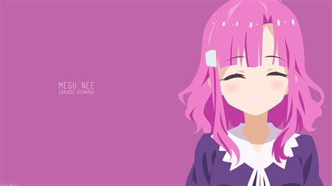 Pink Anime Wallpaper - anime anime pink background megumi
