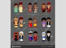 Personas en traje nacional — Archivo Imágenes Vectoriales