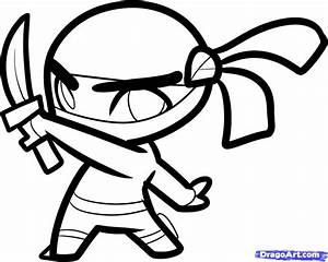How to Draw a Ninja for Kids, Step by Step, People For ...