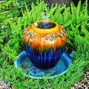 15, unique, garden, water, fountain, design, ideas