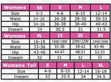 pant sizes chart  women google search ft clothing size chart womens size chart body