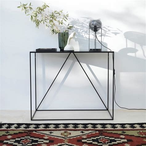 โต๊ะ ไซด์บอร์ดเหล็กสีดำ สำหรับวางของตกแต่ง - Black Steel Sideboard II
