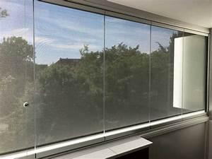 Schiebefenster Für Balkon : balkonverglasung mit beschattung fixscreen f r au en ~ Watch28wear.com Haus und Dekorationen