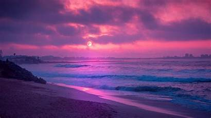 Sunset Purple Wallpapers Landscape Portrait Backiee