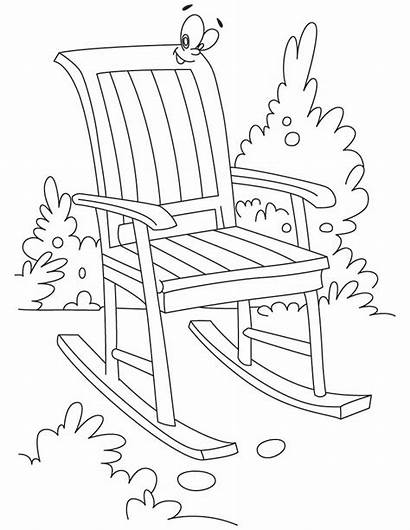 Chair Coloring Rocking Pages Garden Furniture Chairs