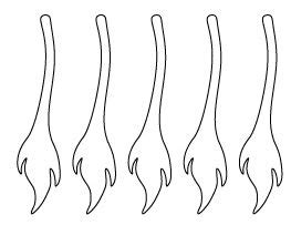 donkey tail pattern animals silhouettes footprints