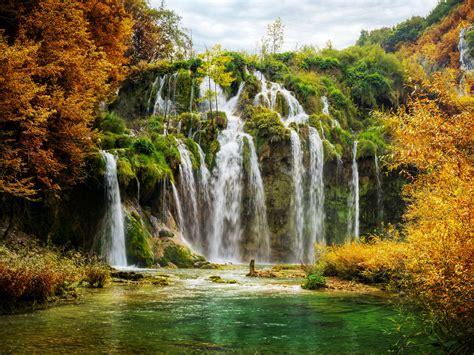 Hd Anime Scenery Wallpaper Wallpaper Waterfalls Plitvice Lakes National Park 4k Croatia Nature 5429