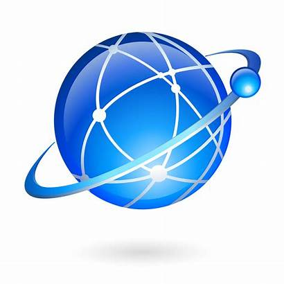 Global Connection Technology Navigation Vector Icon Network