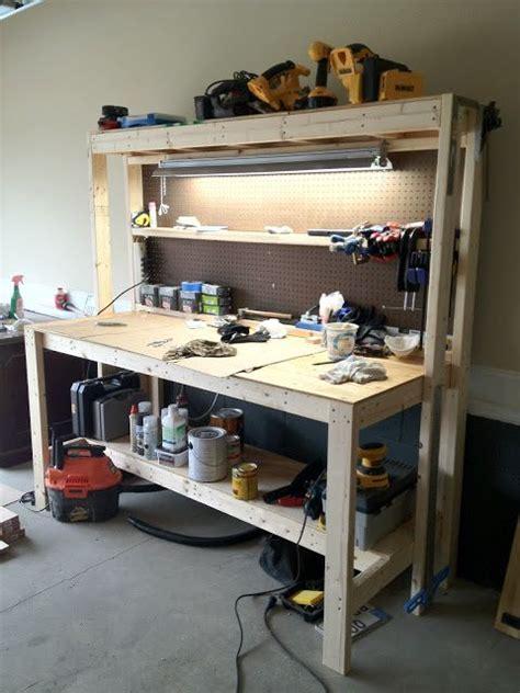 images  garage working bench diy  pinterest
