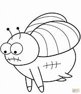 Coloring Fly Cartoon Pages Fruit Printable Drawing sketch template