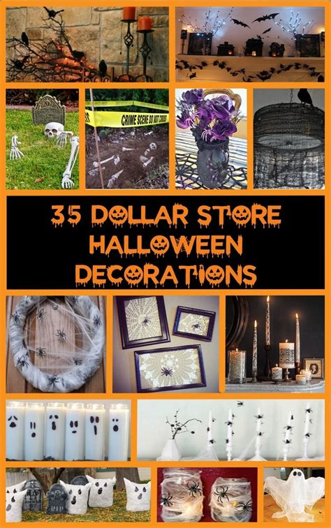 40+ Cheap & Easy Diy Halloween Decorations  Dollar Store