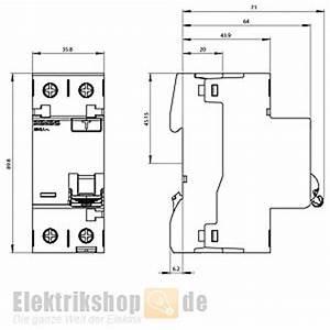 Fi Schalter Anklemmen : fi schutzschalter 16a 10ma 2 polig 5sv3111 6 siemens ~ Whattoseeinmadrid.com Haus und Dekorationen