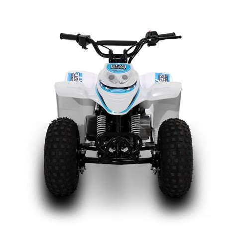 Our 50cc quad bikes are suitable for dry conditions and just as fun in the wet. SMC Cub50 50cc Blue Kids Quad Bike