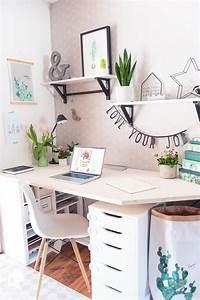Schreibtisch Im Schlafzimmer : fr hling im home office mein neuer schreibtisch ordnung schaffen relleomein wohnzimmer ~ Eleganceandgraceweddings.com Haus und Dekorationen