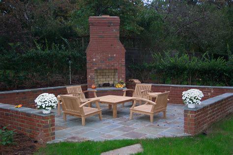 brick backyard outdoor fireplace ask the landscape guy
