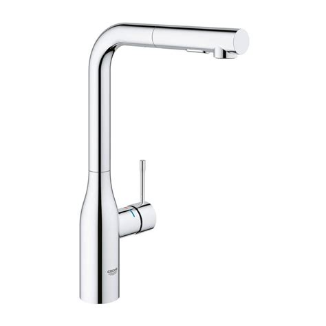 grohe essence kitchen faucet grohe essence new single hole single handle kitchen faucet with dual spray in starlight chrome