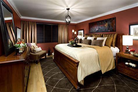 Jane Lockhart Red/gold Bedroom-traditional-toronto