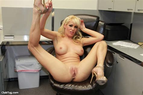 blonde secretary mikki lynn strokes a cock in the office pichunter