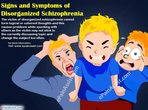 signs symptoms  disorganized schizophrenia