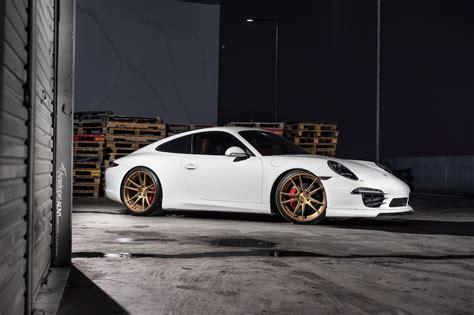 white porsche  carrera  adv sl series wheels