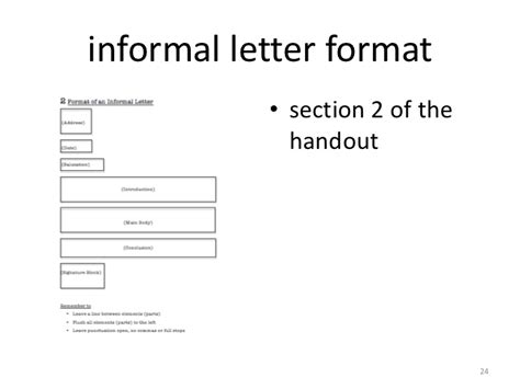 write  informal letter layout