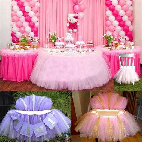 tulle tutu table chair skirt  wedding birthday party