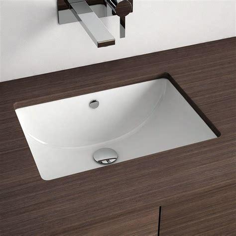 Vasque à encastrer par dessous rectangulaire 46x34 cm