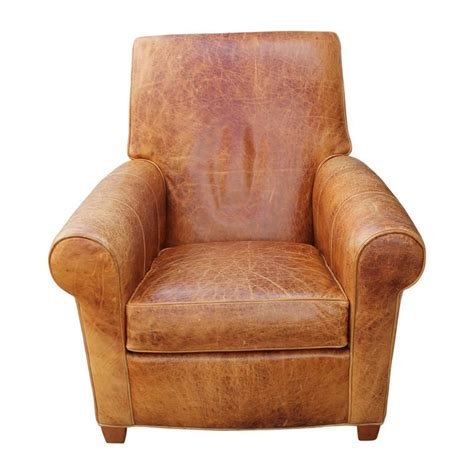 brown leather chair with ottoman modern french art deco style light brown leather lounge