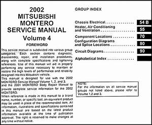 2002 Mitsubishi Montero Repair Shop Manual Original Set