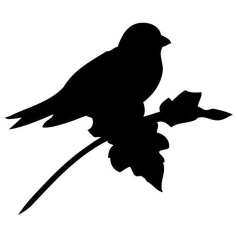 pochoir oiseau sur une branche gratuit 224 imprimer